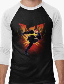 Super Smash Bros. Captain Falcon Silhouette Men's Baseball ¾ T-Shirt