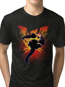 Super Smash Bros. Captain Falcon Silhouette Tri-blend T-Shirt