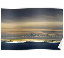 Clouds above the sea Poster