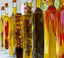 Olive Oil Bottles by Ludwig Wagner