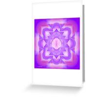 Infinity 7th Chakra Mandala Greeting Card