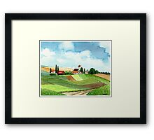 WESTFALEN GERMANY - AQUAREL Framed Print
