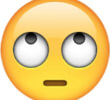 Eyeroll Emoji by Anna Wilson