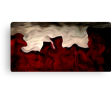 Red Warp Abstract Oil Painting Canvas Print