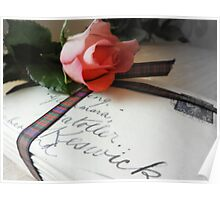 Letters of Love tied up with a tartan ribbon  Poster