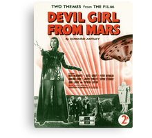 DEVIL GIRL FROM MARS (vintage illustration) Canvas Print