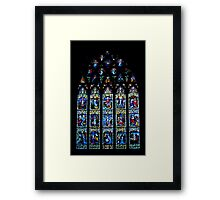 Black Abbey Windows Series: Rosary Window Framed Print