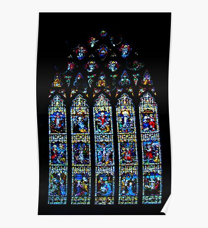 Black Abbey Windows Series: Rosary Window Poster