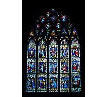 Black Abbey Windows Series: Rosary Window Photographic Print
