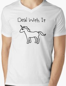 Deal With It (Unicorn) Mens V-Neck T-Shirt