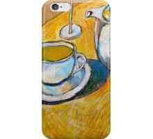 A Cup of Tea on a Potato Bag iPhone Case/Skin