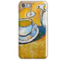 A Cup of Tea on a Potato Bag iPhone Case/Skin