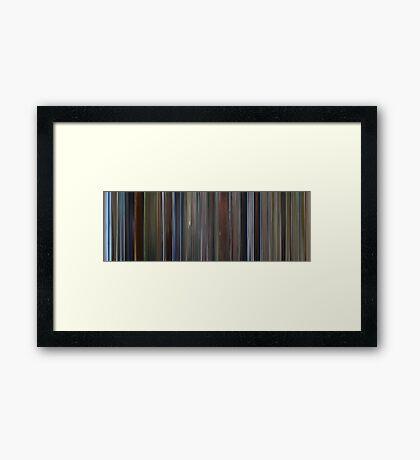 Moviebarcode: The Pledge (2001) Framed Print