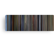 Moviebarcode: The Pledge (2001) Canvas Print