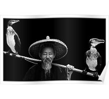 Cormorant Fisherman Poster