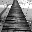 Wooden suspension bridge  by Dimitar K  Atanassov