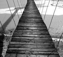 Wooden suspension bridge  by Dimitar K  Atanassov