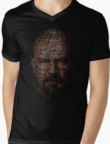 Walter White, Typographic Man of Chemistry Mens V-Neck T-Shirt