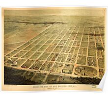 Panoramic Maps Birds eye view of Egg Harbor City NJ Poster