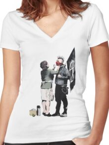 Anarchy... Women's Fitted V-Neck T-Shirt