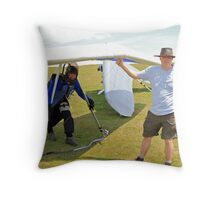 Preparing for Launch Throw Pillow