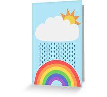 Rainbow Drops Greeting Card