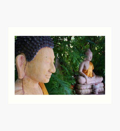 Double Buddha Art Print