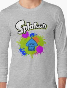 Splatoon Squid - Colour Blue Long Sleeve T-Shirt