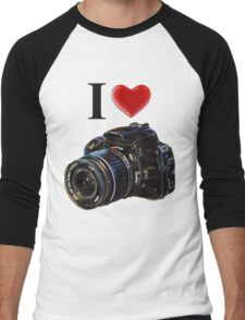 I Love Photography Men's Baseball ¾ T-Shirt