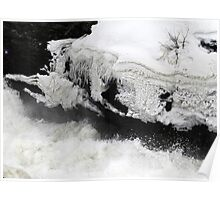Hogs Back Falls Snow and Ice Formations Poster