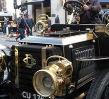 A vintage car in the Regent Street Motor show Sticker