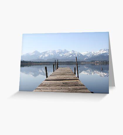The Lake at Hopfensee Greeting Card