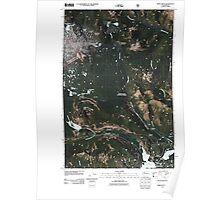 USGS Topo Map Washington State WA Spiral Butte 20110520 TM Poster