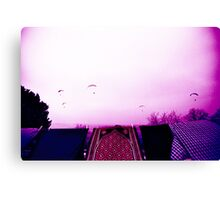 over a drying laundry Canvas Print