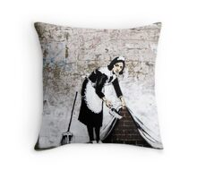 Banksy - Sweep it under the carpet N°1 Throw Pillow