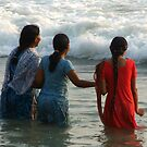 Indian Women in the Sea at Varkala by SerenaB