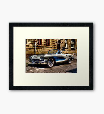 Corvette Oldtimer HDR Framed Print