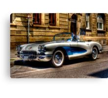 Corvette Oldtimer HDR Canvas Print