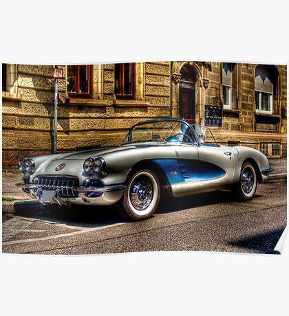 Corvette Oldtimer HDR Poster