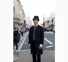 Man in a vintage costume at the Regent Street Motor Show in London Unisex T-Shirt