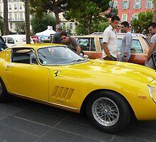 Yellow Ferrari by Fara