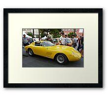 Yellow Ferrari Framed Print