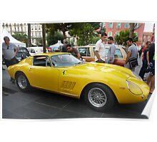 Yellow Ferrari Poster