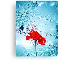 Primary splash Canvas Print