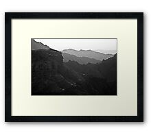 Mountains View Framed Print