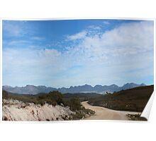 looking to the Arthur Range at Lake Pedder Poster