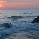 Water on the Rocks at Sunset Varkala by SerenaB