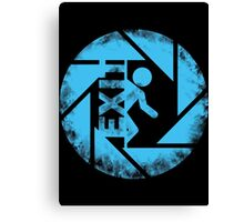 BLUE EXIT  Canvas Print