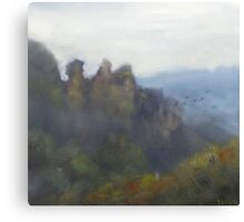 Foggy morning, Three Sisters Canvas Print