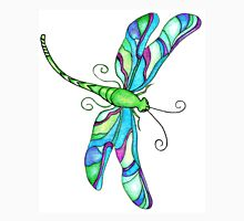 Stained Glass Dragonfly Womens Fitted T-Shirt
